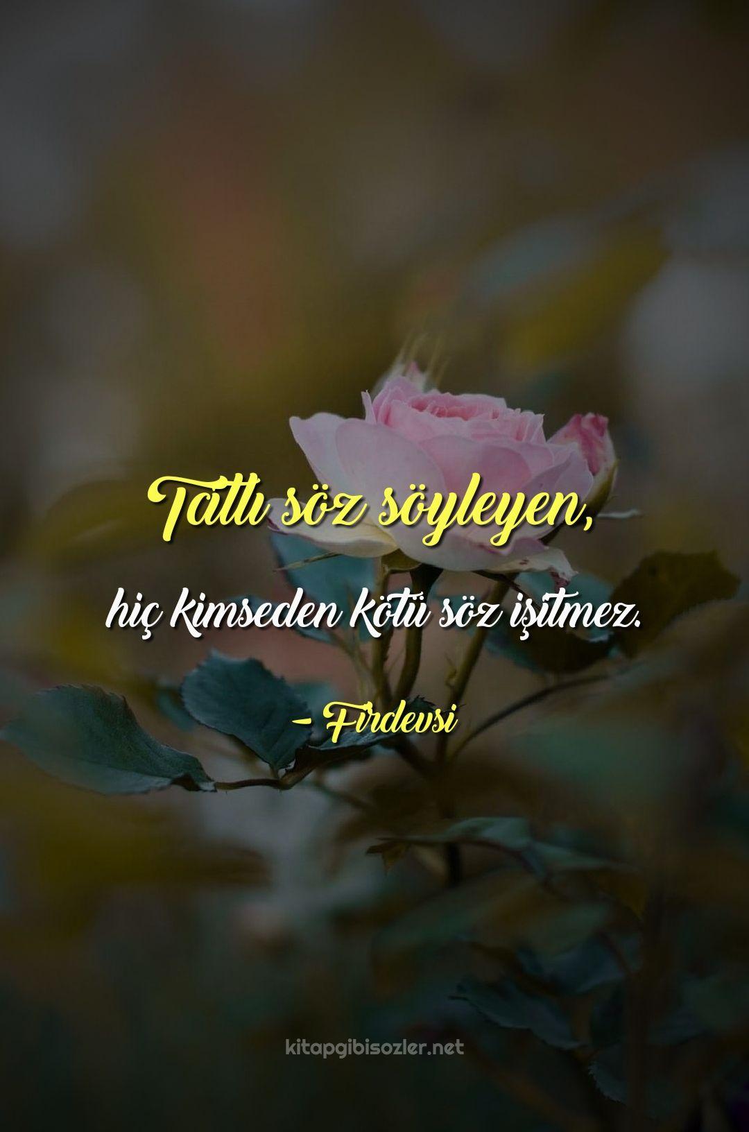 Tatli Soz Soyleyen Hic Kimseden Kotu Soz Isitmez Firdevsi Meaning Of Love Words Word Of The Day