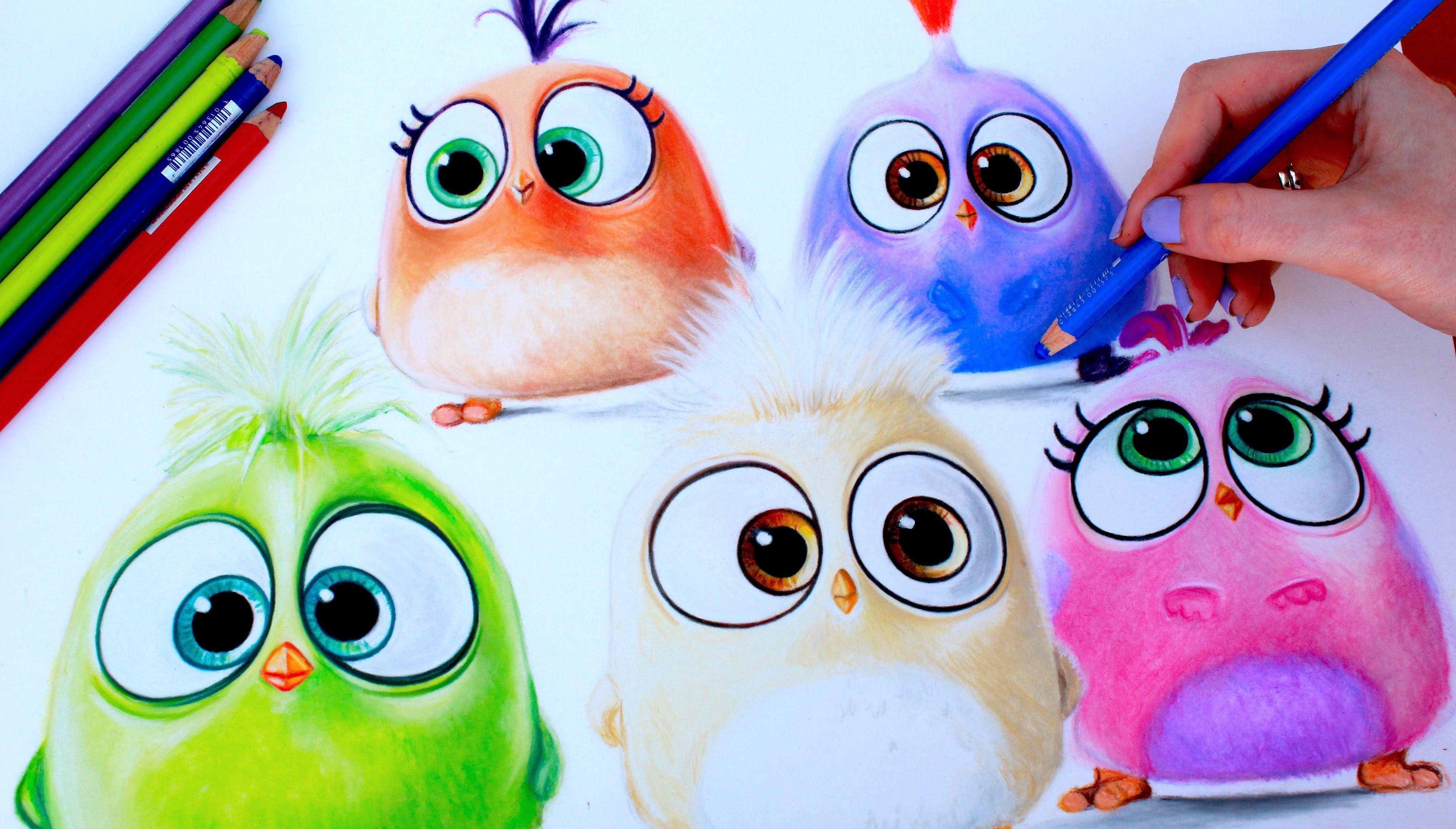 Angry Birds Drawing Hatchlings Bird Drawings Disney Movie Art Drawings