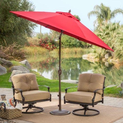 Coral Coast 9 Ft. Sunbrella Deluxe Tilt Aluminum Patio Umbrella, Gingko