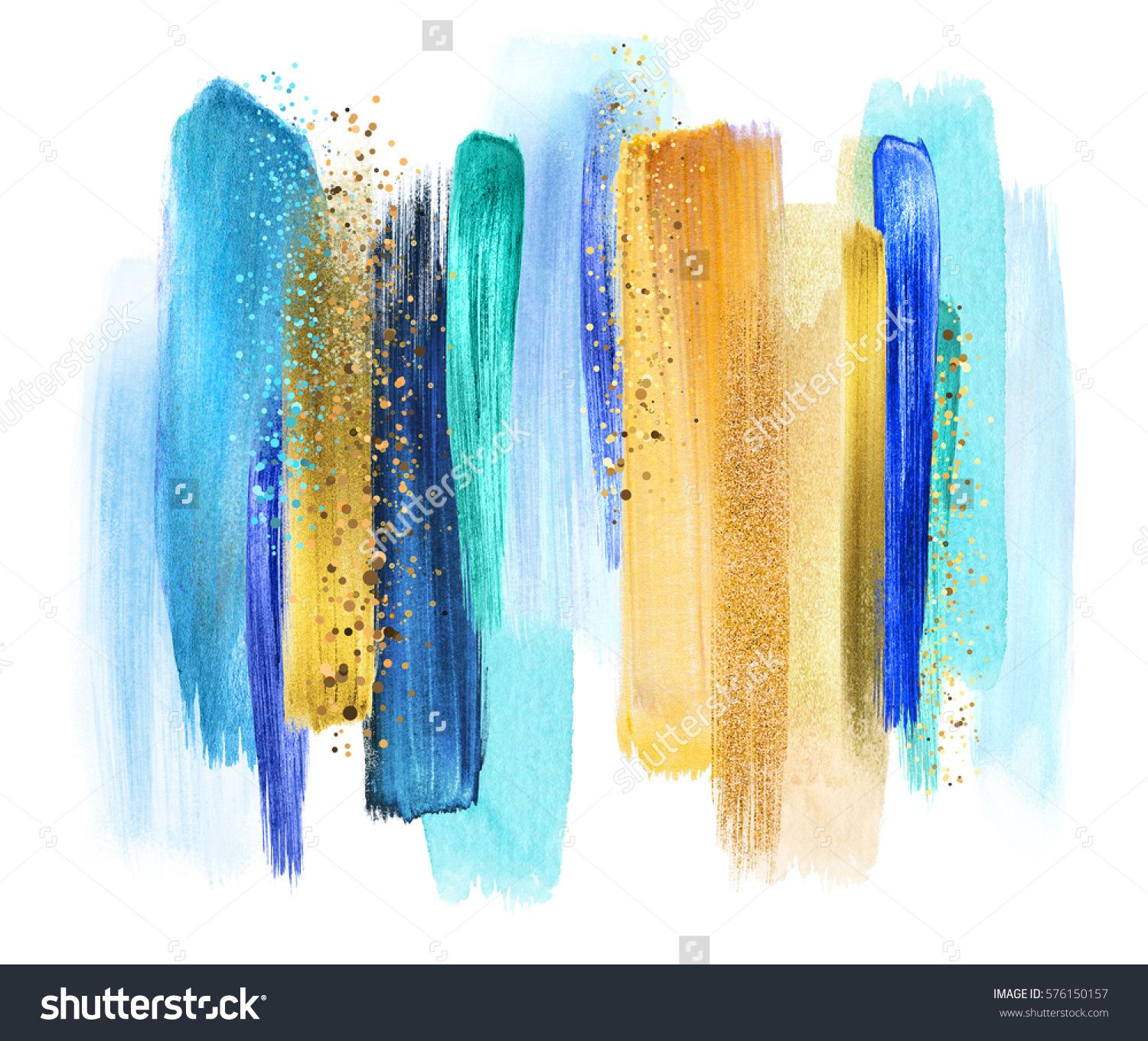Abstract Watercolor Brush Strokes Creative Illustration Artistic