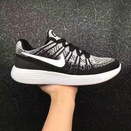 0298eeaf3163 June Latest New Arrival Unisex Nike LunarEpic Low Flyknit 2 2017 Summer  White Black Cool Grey