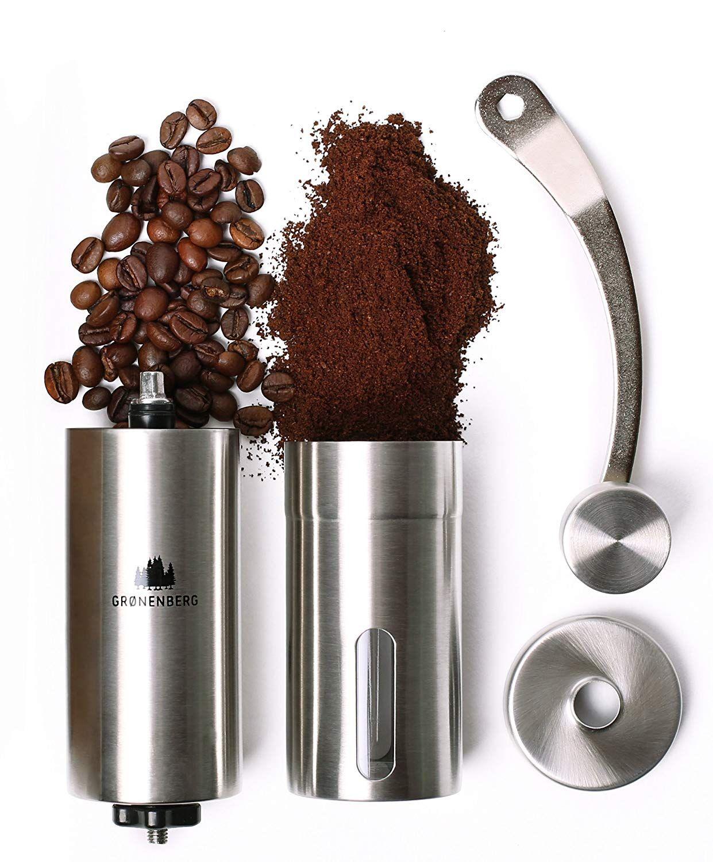 Groenenberg Hand-Kaffeemühle mit Keramik-Mahlwerk Manuelle Kaffeemühle
