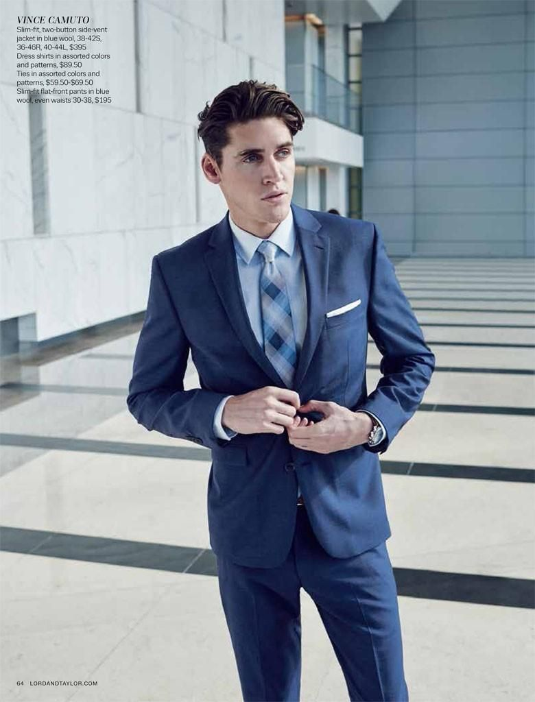 Isaac Carew Suits Up in Contemporary Styles for Lord & Taylor ...