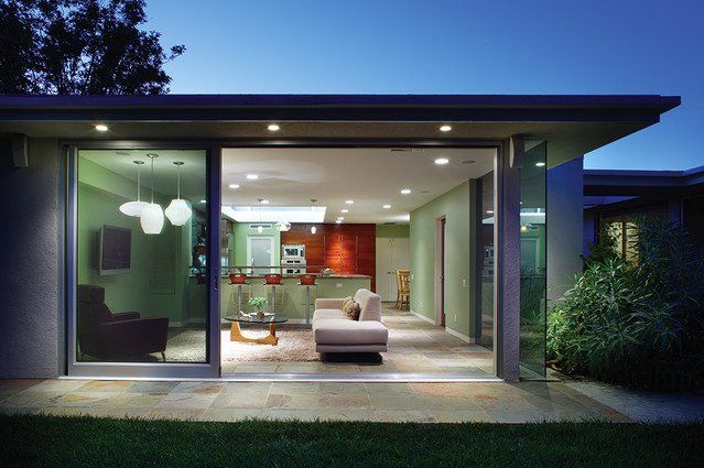 Contemporary Family Room Up Houses Melbourne Australia Minimalist Building Garden Mid Cent Mid Century Modern House Door Glass Design Contemporary Family Rooms
