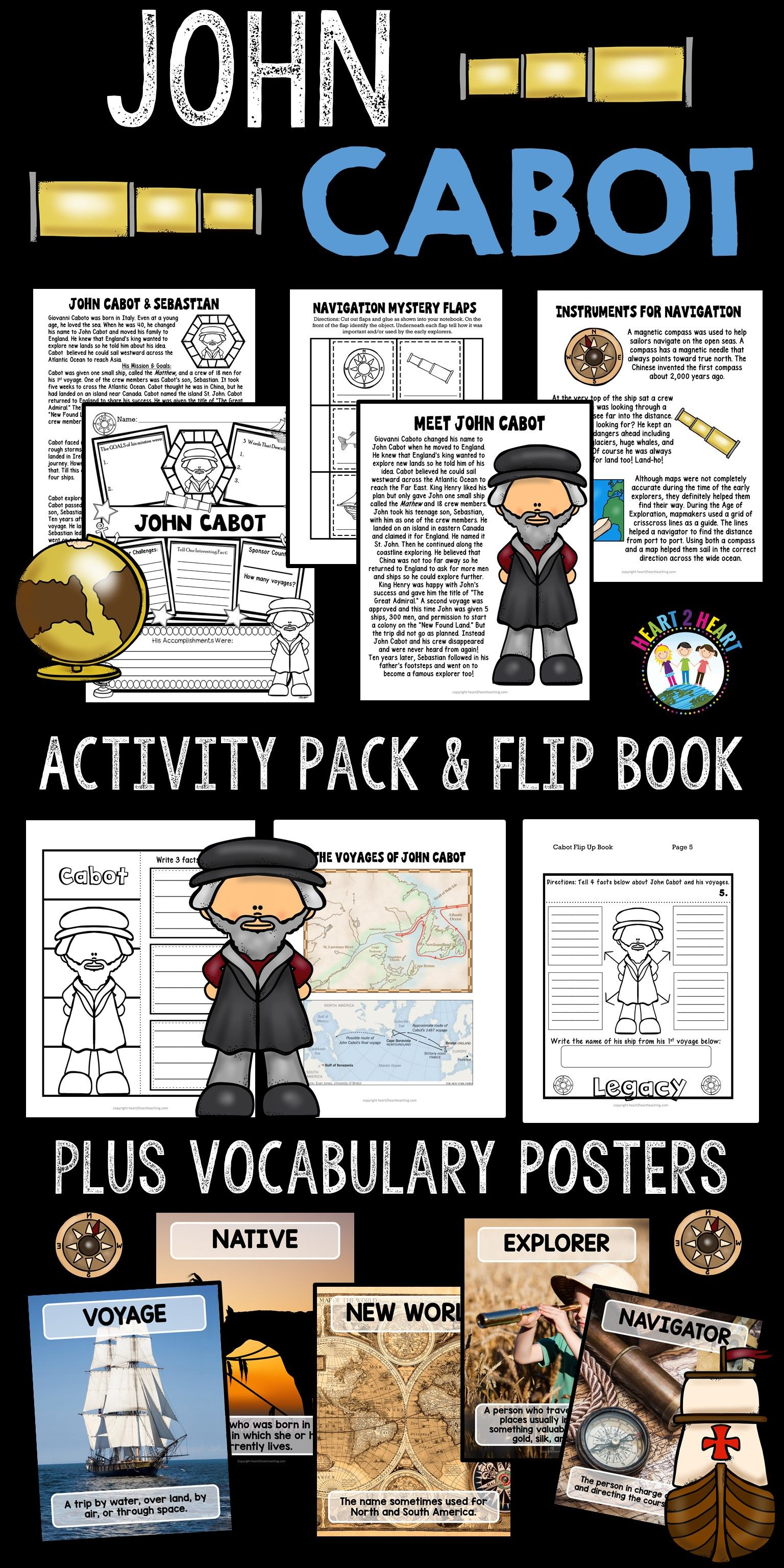 John Cabot Worksheet For 4th Grade   Printable Worksheets and Activities  for Teachers [ 3072 x 1536 Pixel ]