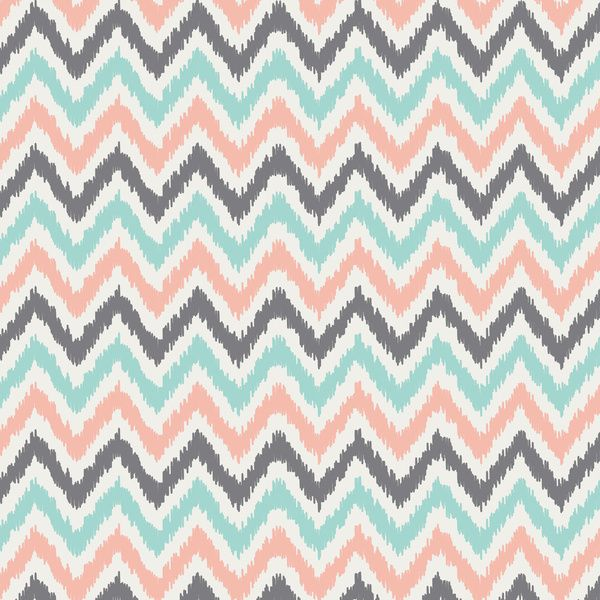 Mint And Coral Pattern Aqua
