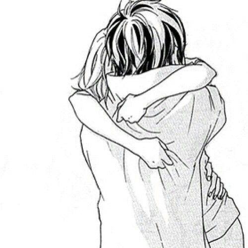 Manga Couple Noir Et Blanc Anime Romantique Dessin Noir