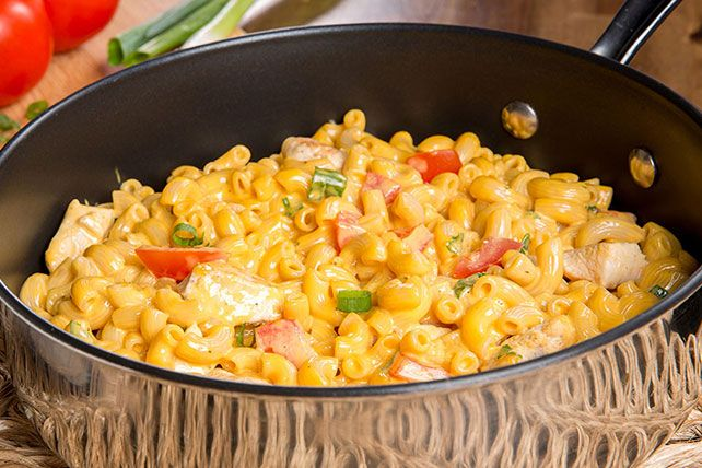 Photo of 'Beef' up a  KRAFT Deluxe Macaroni & Cheese Dinner with chic…