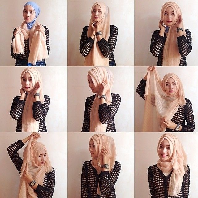 Hijab tutorial ♥ Muslimah fashion & hijab style