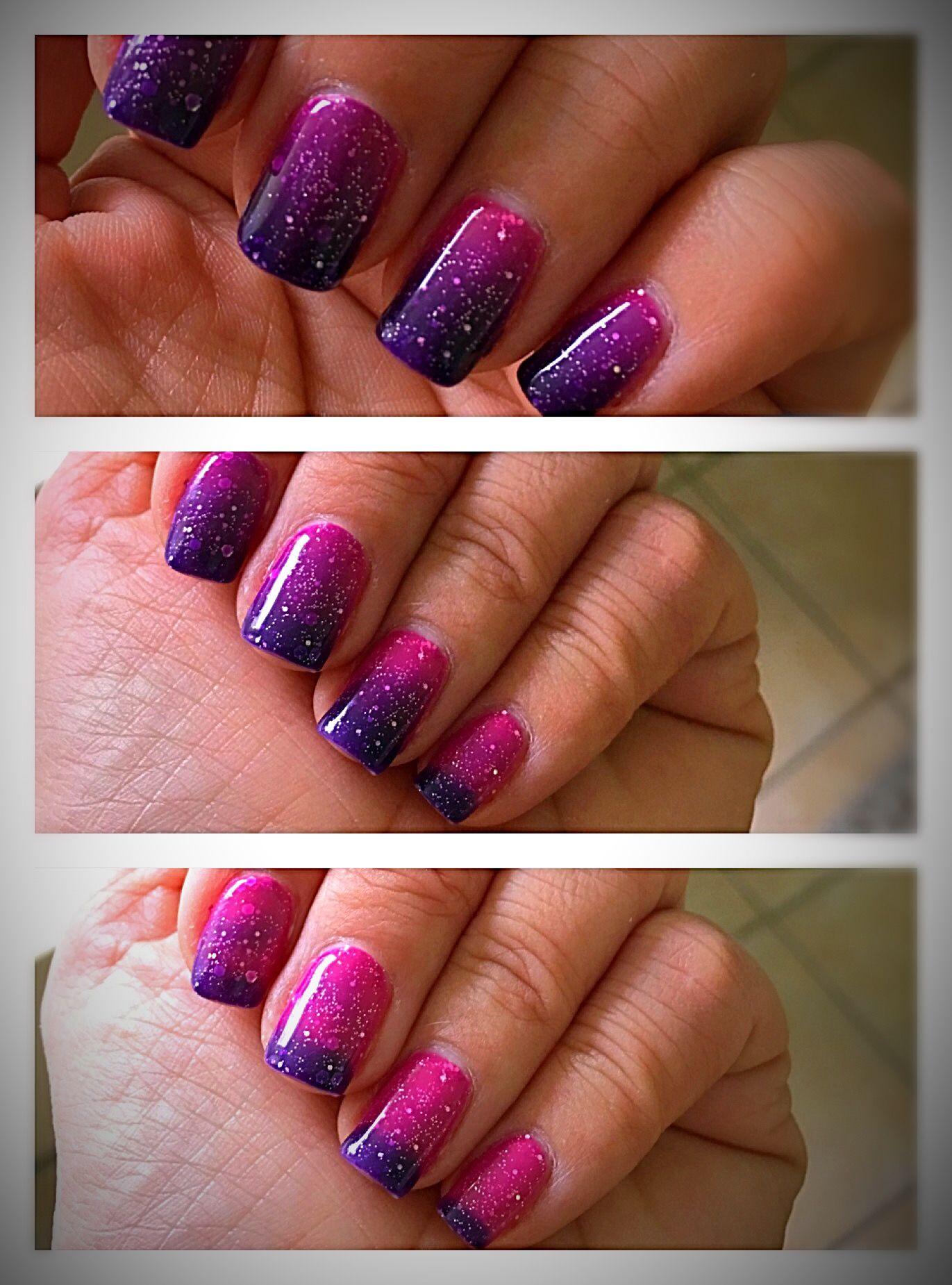 Pink Galaxy Mood Changing Gel Polish Mood Nail Polish Gel Mood Changing Nail Polish Mood Nail Polish