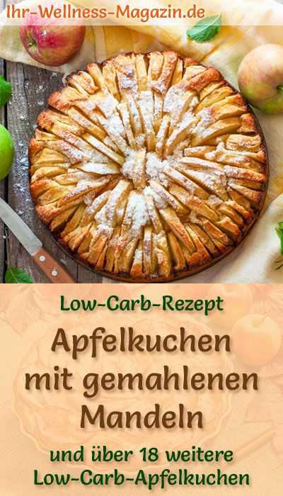Photo of Low-carb apple pie with ground almonds – recipe without sugar