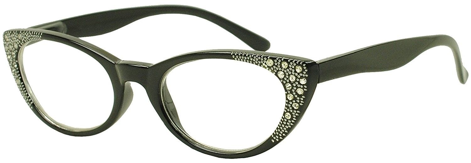 64c958837e Round Pointed Cat Eye Rx +1.00 - +3.50 Prescription Eye Glasses with ...