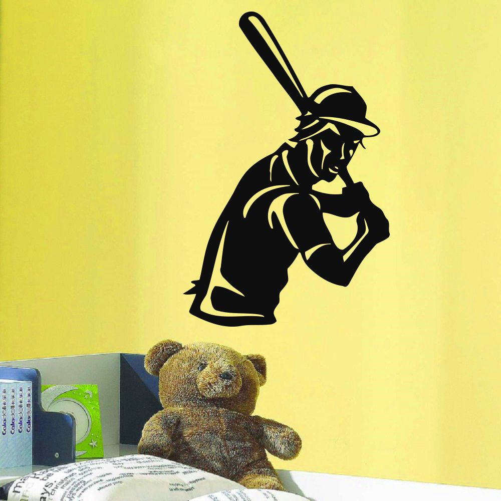 Baseball Hitter Player Vinyl Wall Art Decal Sticker   Products ...