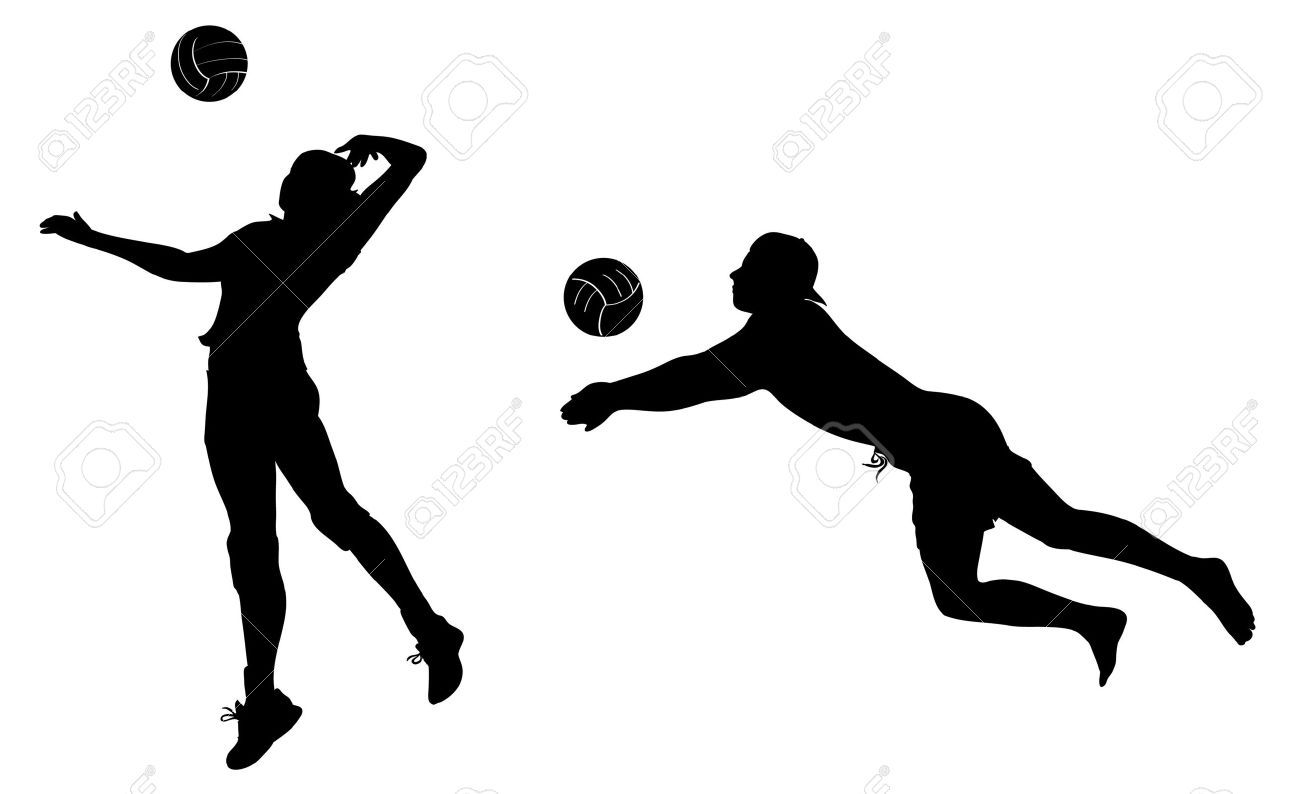 Volleyball Players Black Icons Clip Art Volleyball Players Clip Art Volleyball
