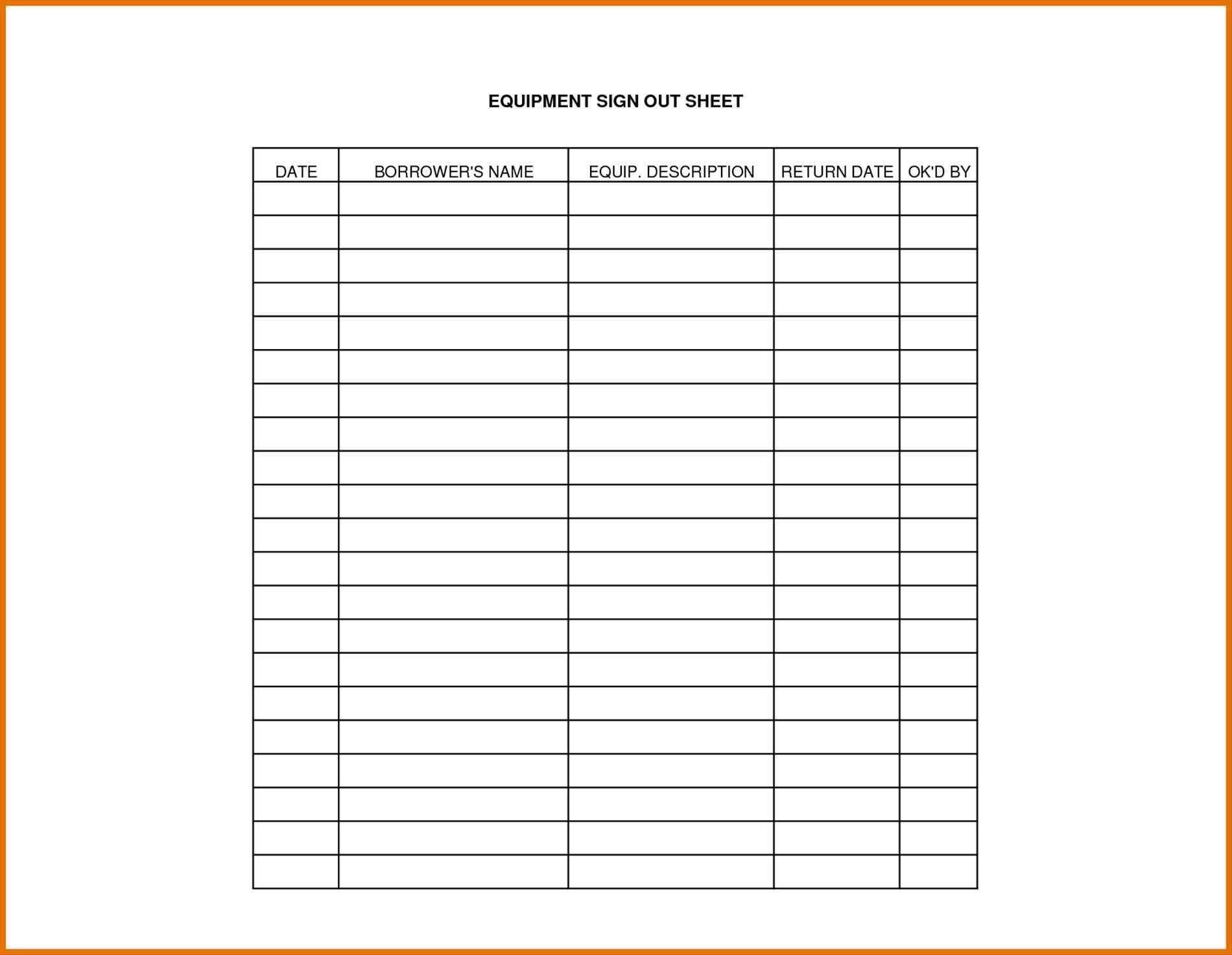 New Sign Out Sheet Template Word Exceltemplate Xls Xlstemplate Xlsformat Excelformat Microsoftexcel Sign Out Sheet Templates Make Business Cards