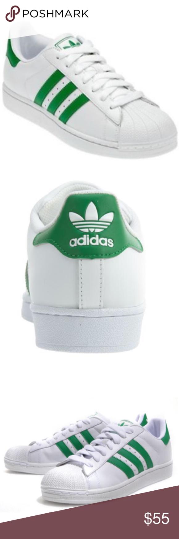 Adidas Superstar Green Stripe Sneaker