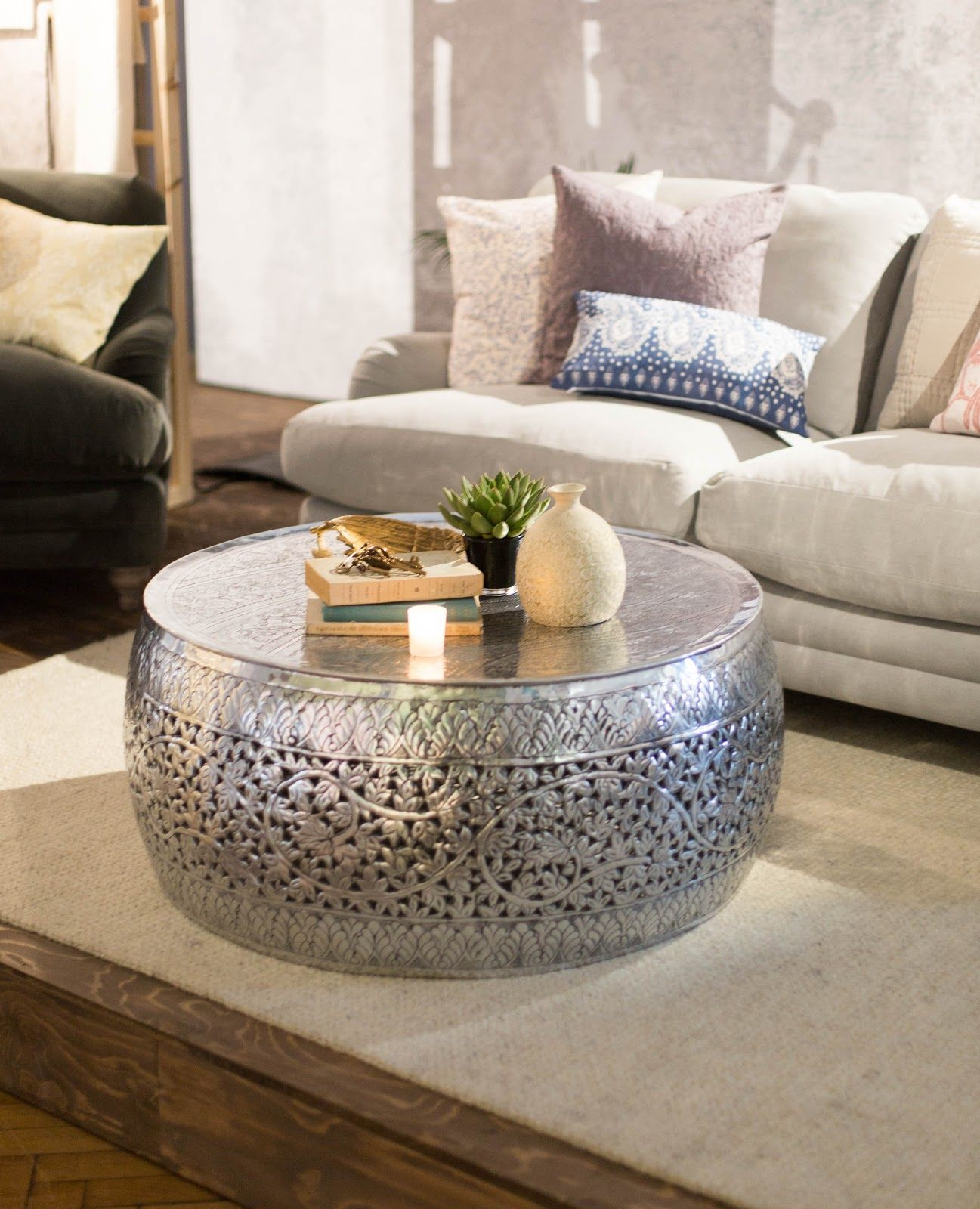 House Of Fraser Ss17 Press Show Drum Coffee Table Moroccan