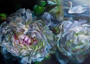 "Saatchi Art Artist Marcella Kaspar; Painting, ""Hakucho_122x152cm_oil on linen_2009_SOLD"" #art"