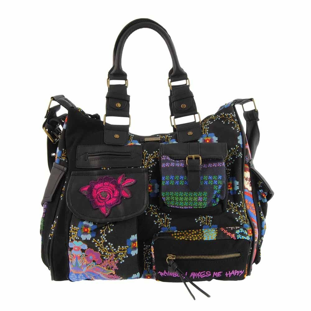 Bolso London night negro de Desigual en paulaalonso.es
