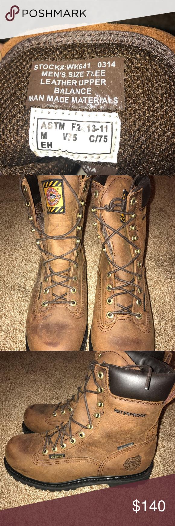 Justin Original Men S Lace Up Work Boots Nwot In 2020 Justin Work Boots Fashionable Snow Boots Boots