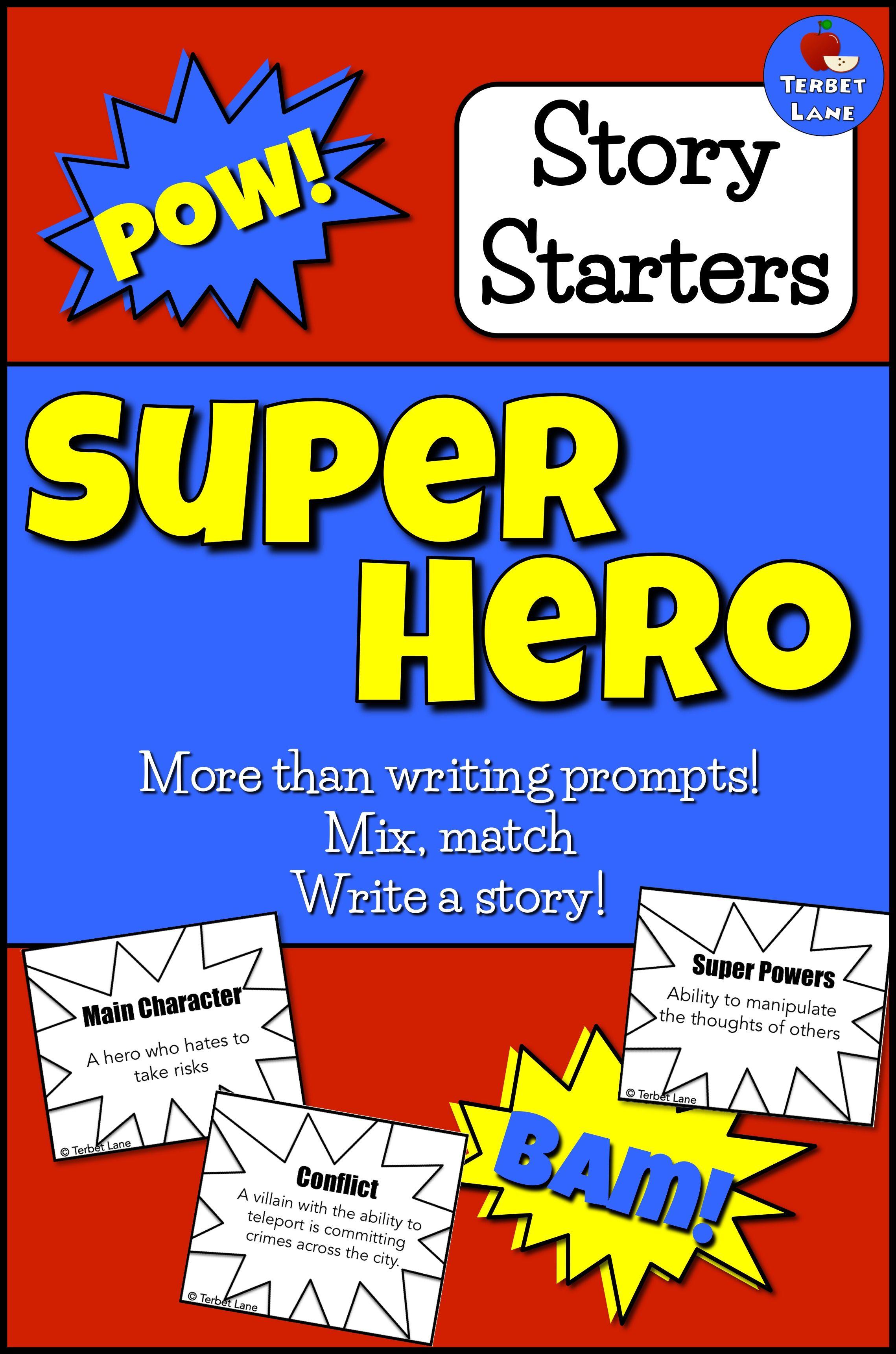 Superhero Theme Story Elements Creative Story Starter