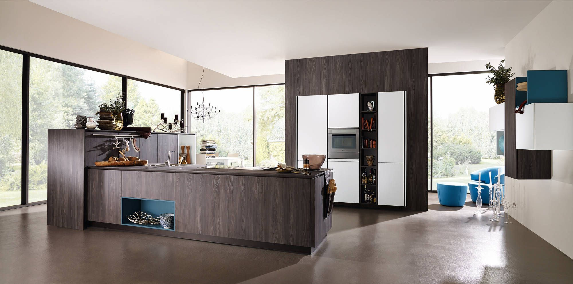 Medium image of alno new modern front in caruba  kitchen cabinet line called alnostar satina and smartline