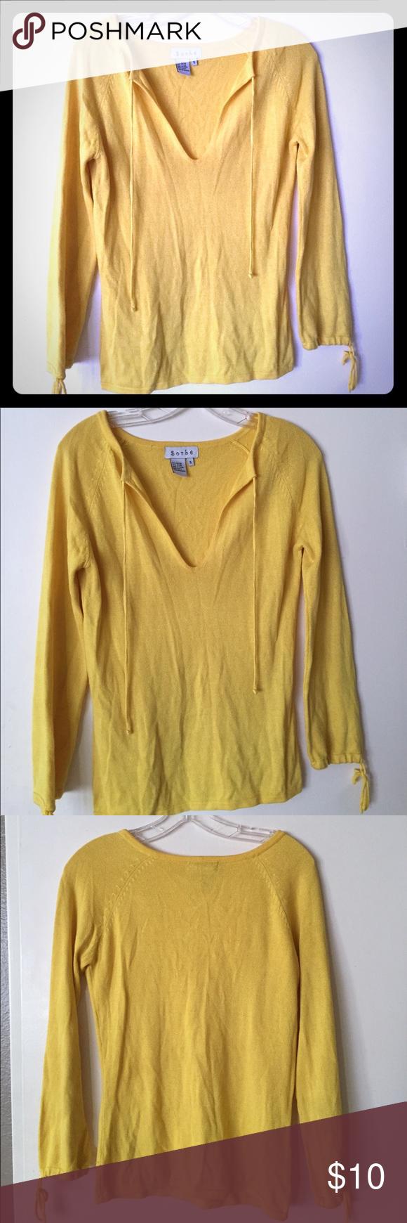 Cute! Yellow sweater/shirt