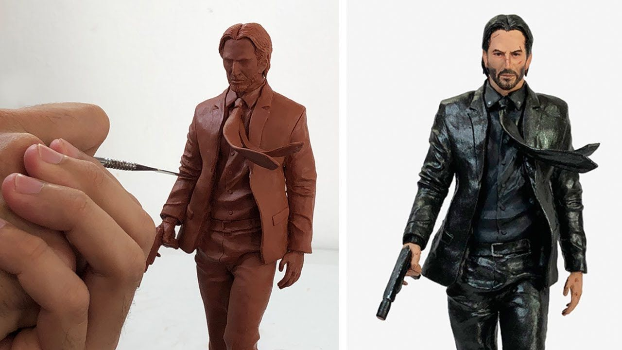 Sculpting John Wick Keanu Reeves Timelapse With Images
