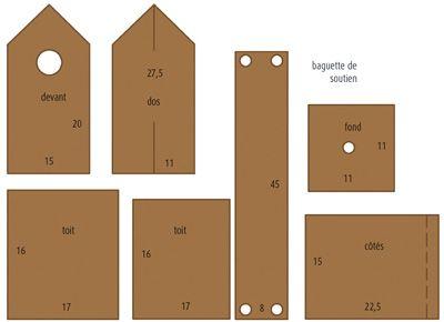 nichoir oiseaux en bois tuto pour fabriquer loisirs cr atifs zahrada pinterest. Black Bedroom Furniture Sets. Home Design Ideas
