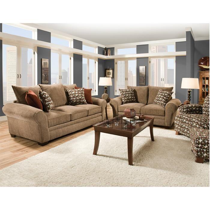 Casual Sofa Loveseat And Accent Chair Nebraska Furniture Mart Casual Living Room Furniture Comfortable Living Room Furniture Loveseat Living Room
