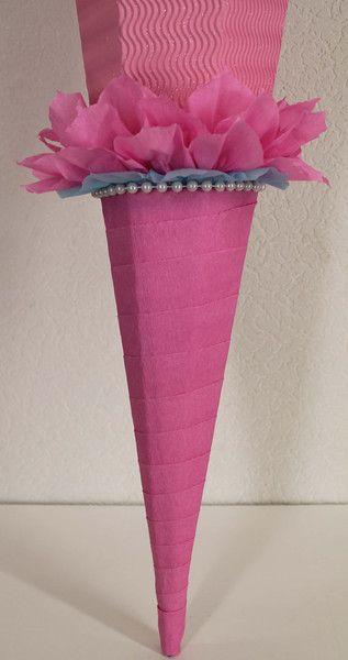 """Schultüte - Rohling  """"Eiskönigin"""" in hellblau, türkis und rosa. **In mehreren Größen, siehe unten die Beschreibung !!!** Rohling mit Diamant(Glitzer)-Effekt zum selbst verzieren!!!  Hier biete..."""