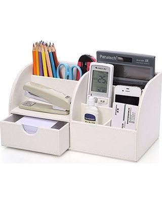 Home Office Desk Multifunctional Divided Compartments Desktop Storage Holder