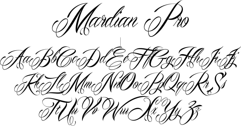Old english cursive tattoo fonts images for tatouage for Cursive script tattoo fonts