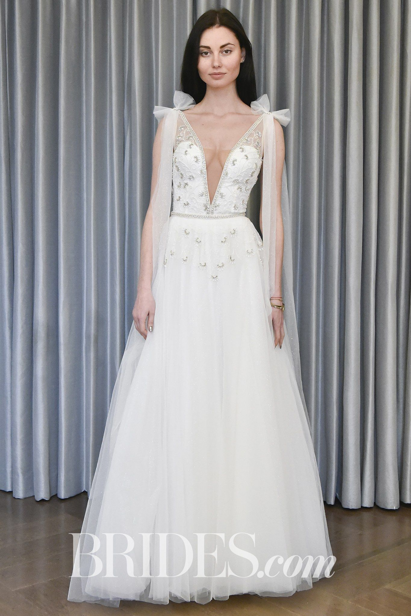 Julie Vino Bow Wedding Dress Spring 2018 | http://www.brides.com ...