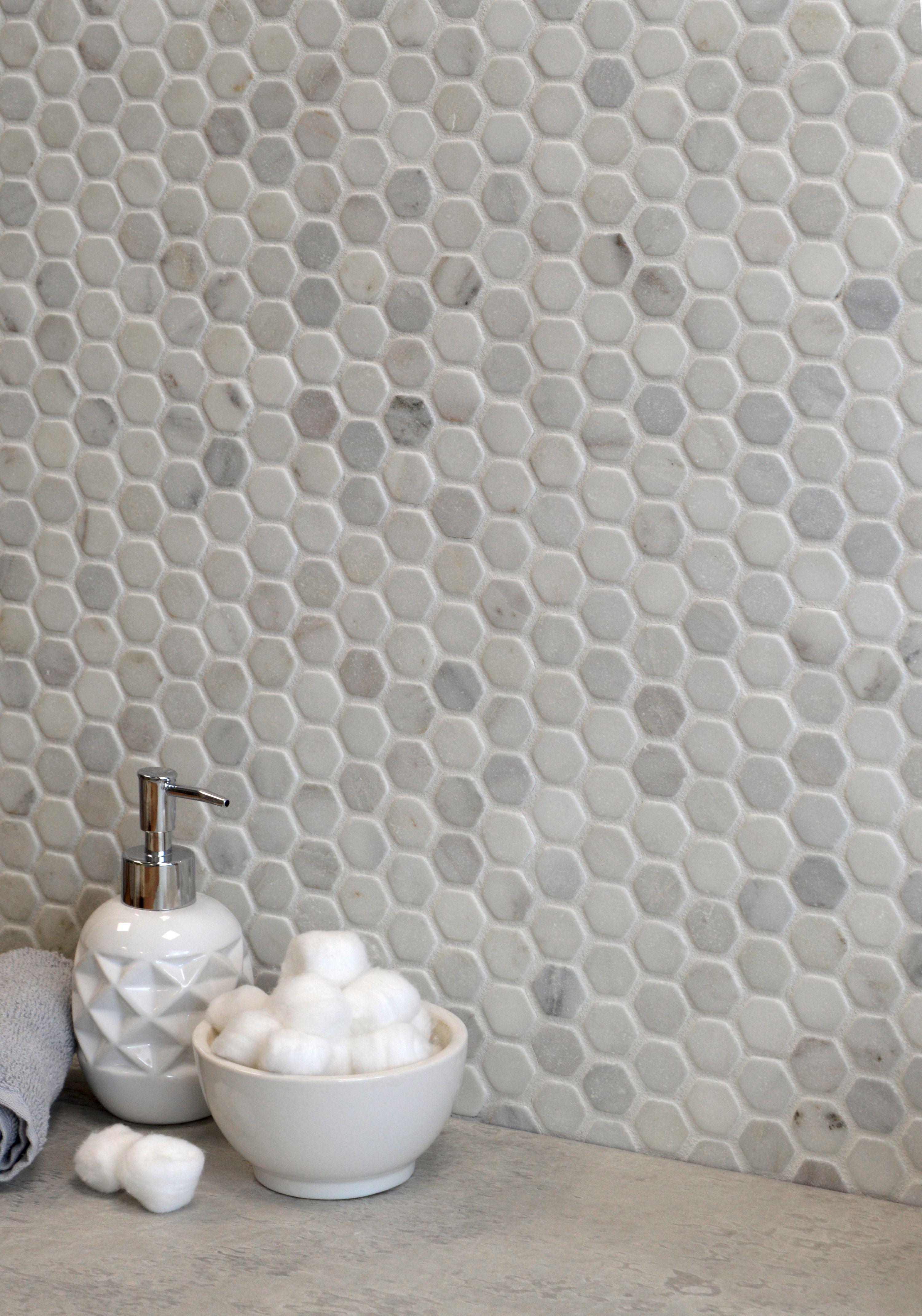 Oriental Blanco Marble Hexagon Mosaic Tiles Hexagon Mosaic Tile Mosaic Tiles Marble Mosaic