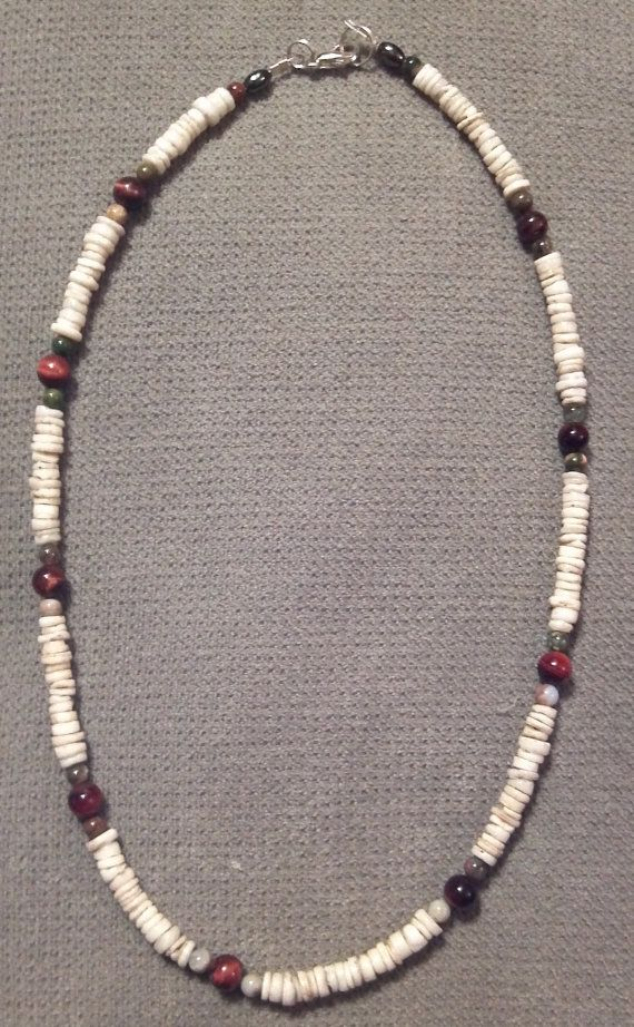 Handmade Beaded Shell Red Tigers Eye & by LaurelMoonCreations, $19.99