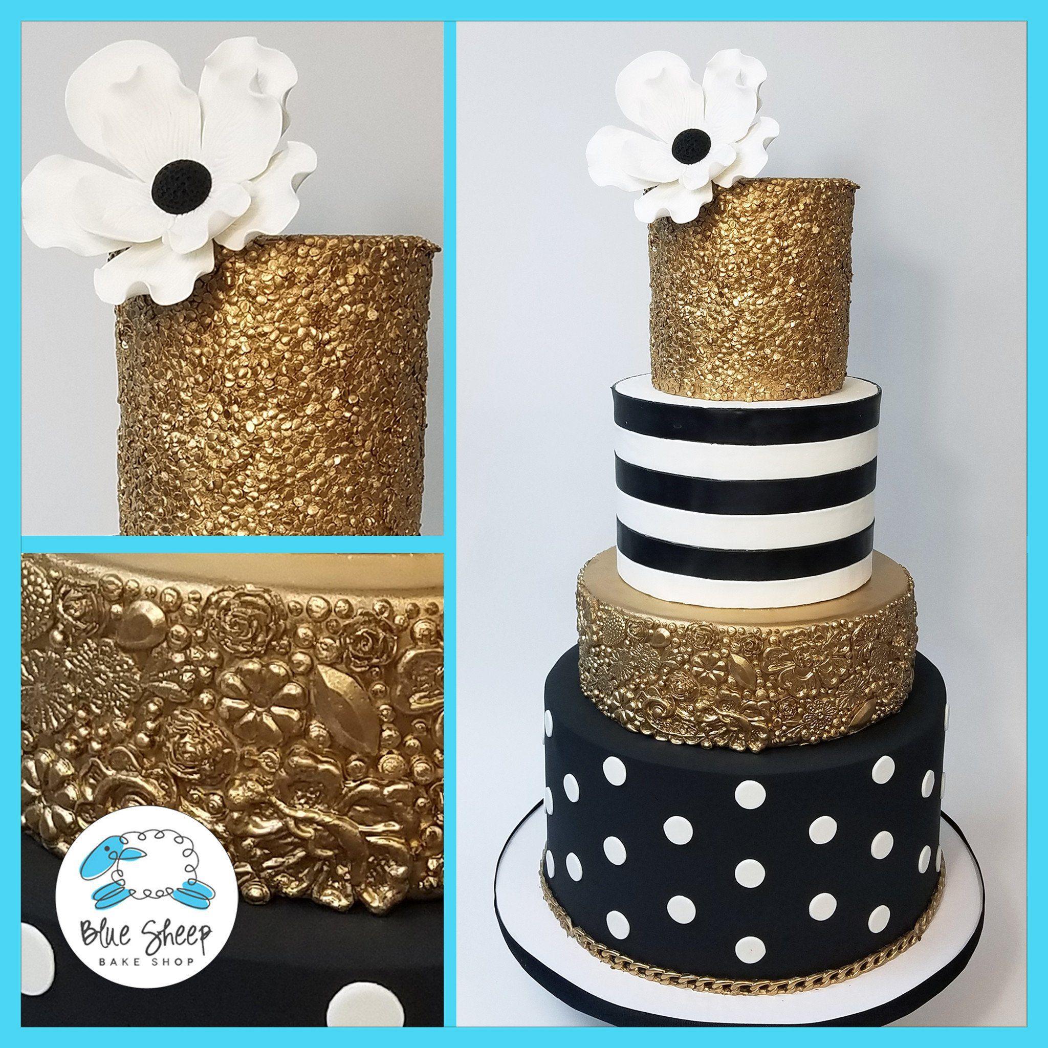 Image Result For Birthday Cake Black White Gold