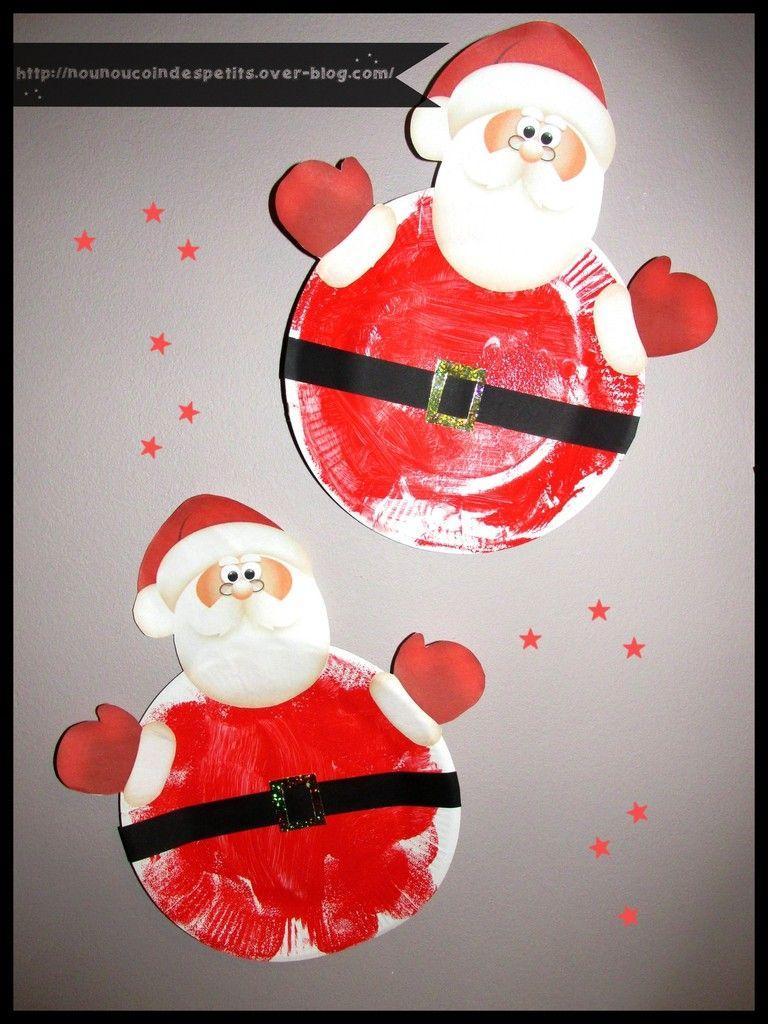 Père Noel Assiette En Carton Winter Weihnachten Christmas Art