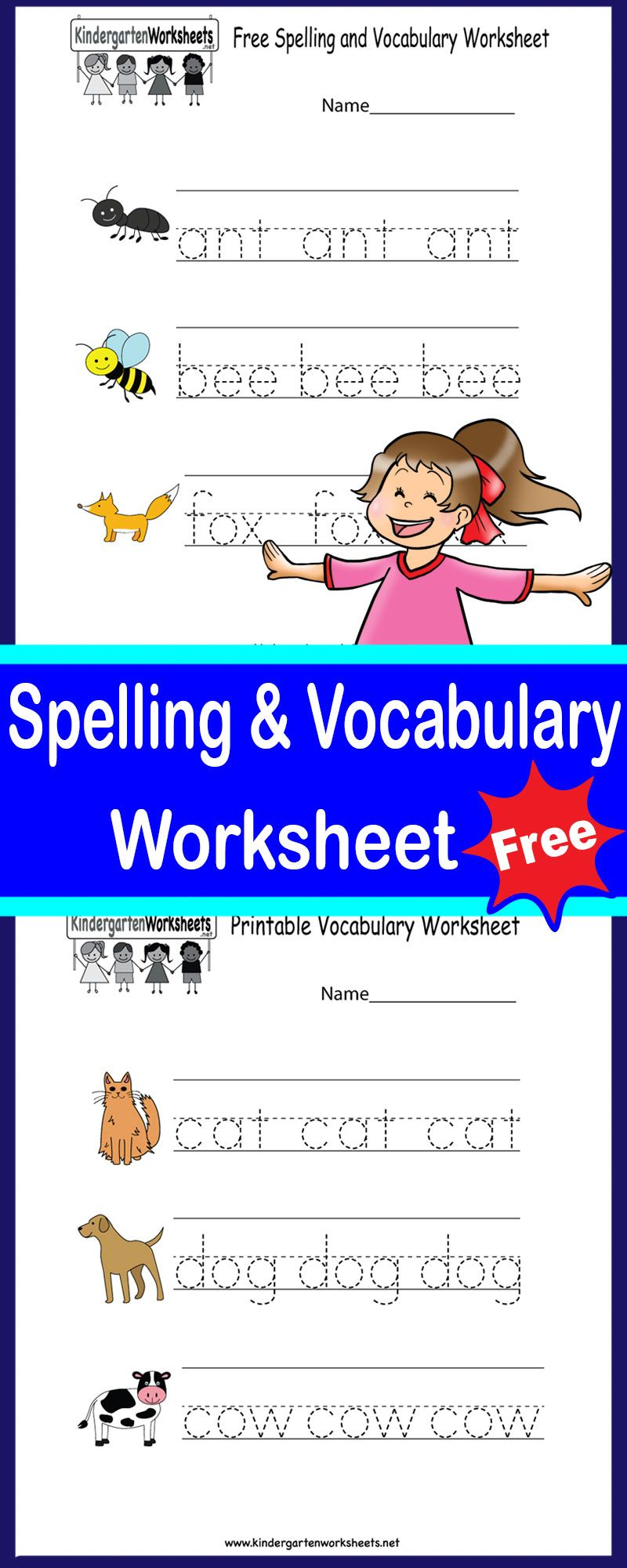 Fun spelling and vocabulary worksheets to download, print ...