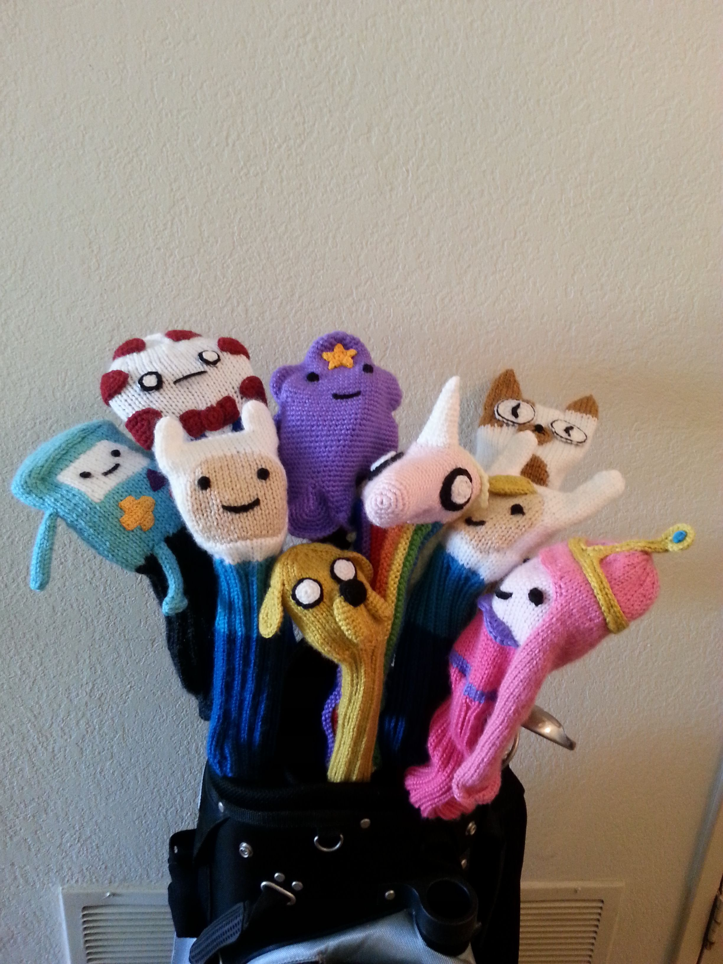 Adventure Time | knitted golf club cover set | Adventure Time ...