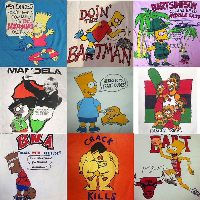We Met The World S Leading Authority On Bootleg Bart Simpson T Shirts Bootleg Bart Bart Simpson T Shirt Simpsons T Shirt