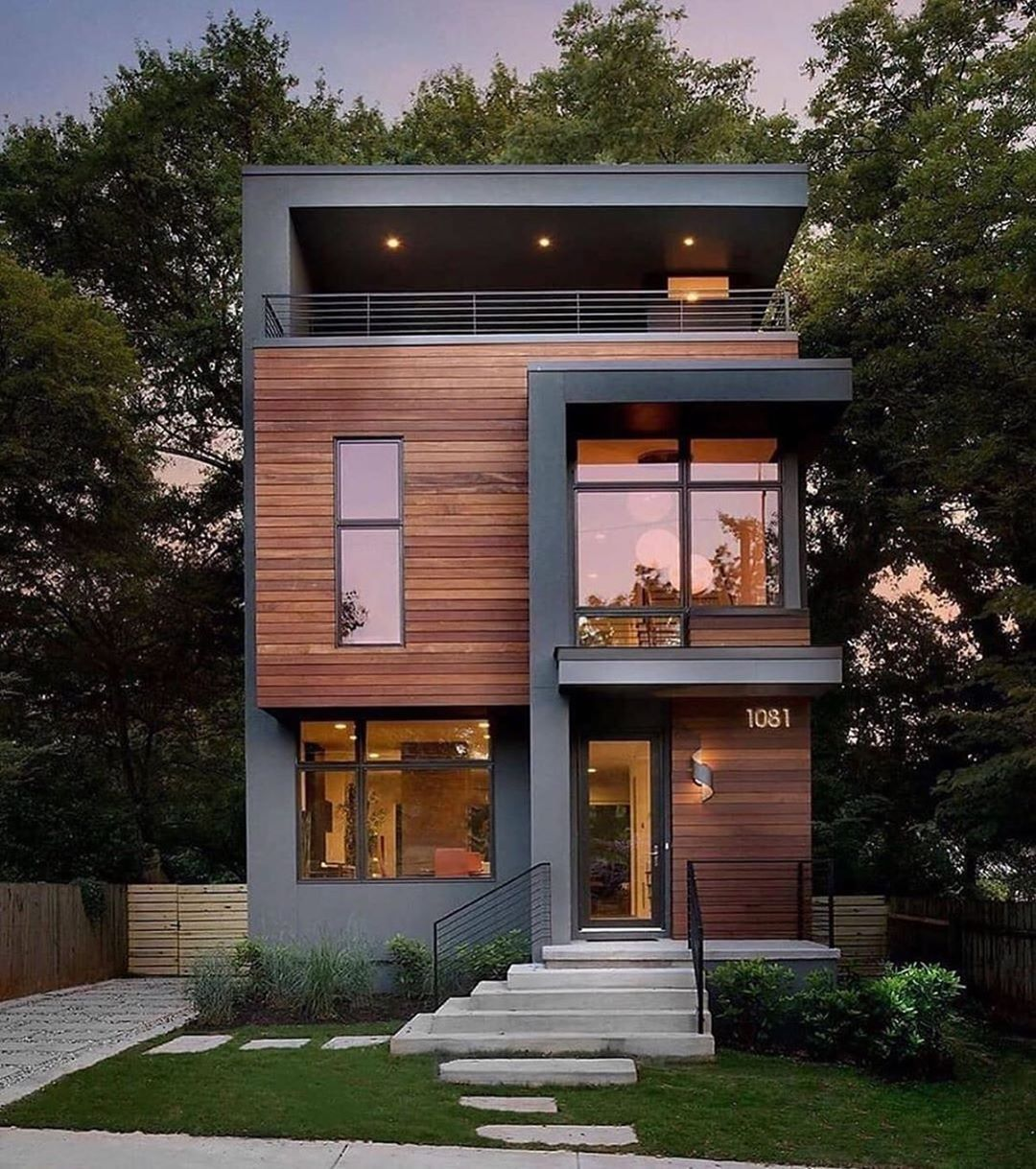 Contemporary Home Now On Instagram The Sanders Modern House Designed By Jordache K Atlanta Usa Small House Design House Architecture Design Facade House