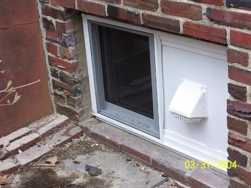 New Thermal Basement Window With Dryer Vent Graphics Code