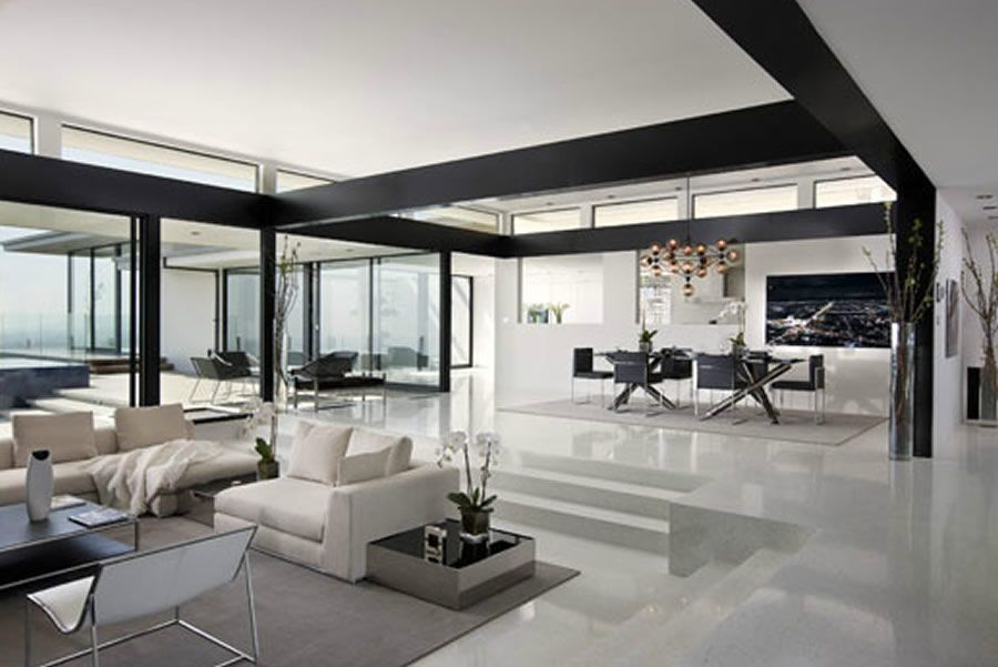 Etonnant Modern And Sophisticated Living Area Interior Design Of Cole House By Steve  Hermann, Los Angeles