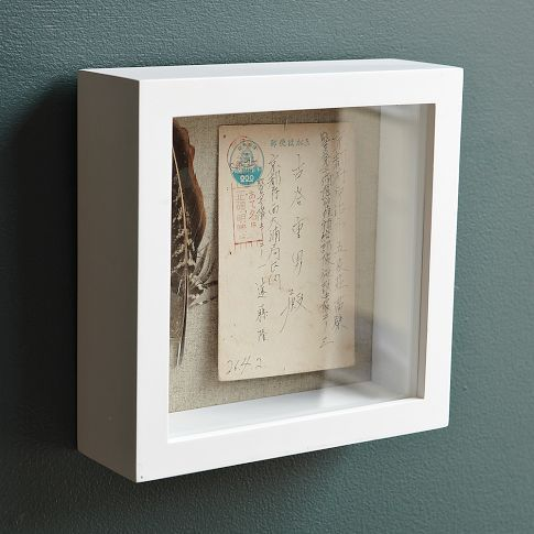 Shadow-box frame from West Elm  | Spaces to live in | Box