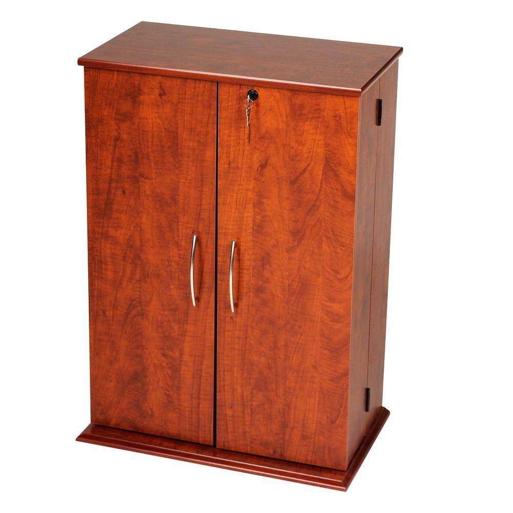 Prepac Cherry Media Storage Cvs 0136 The Home Depot Media Storage Cabinet Wood Storage Cabinets Storage Cabinets