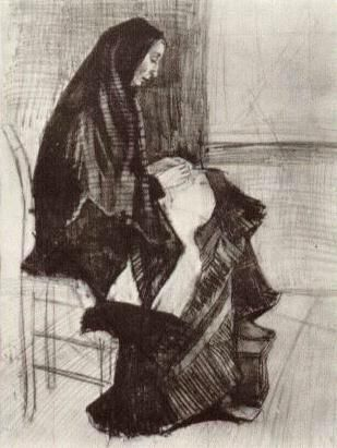Vincent van Gogh: Figure of a Woman with Unfinished Chair The Hague: early May, 1882 (Otterlo, Kröller-Müller Museum)