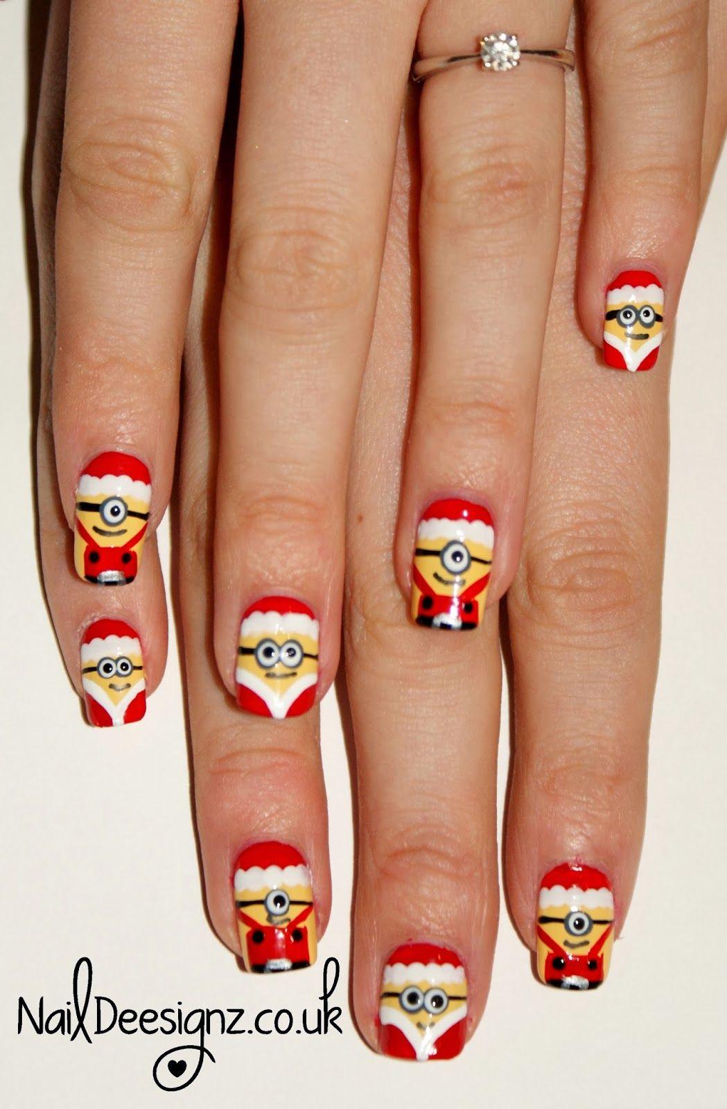 NailDeesignz: Christmas Minion Nail Art | fun | Pinterest | Minion ...