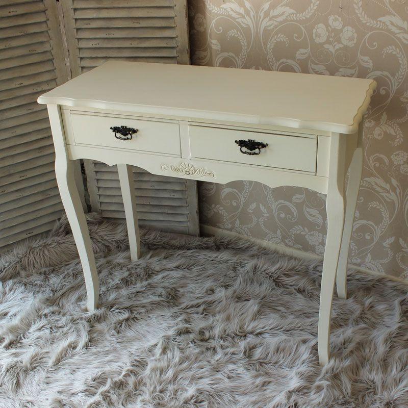 Belgravia Range - Cream 2 Drawer Console Table