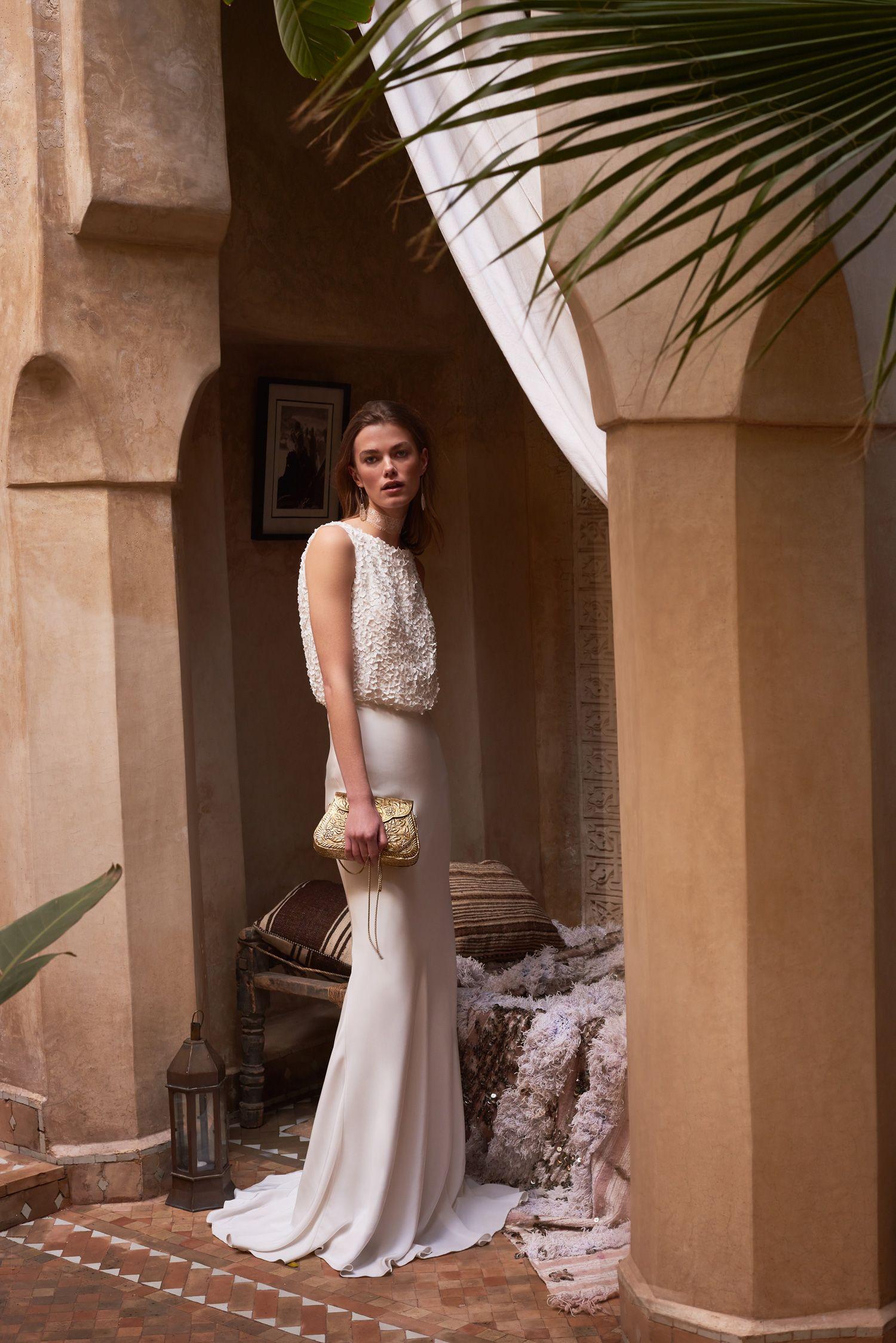 Sleek, Boho-Chic Bridal Gowns for Modern Brides | Bridal gowns ...